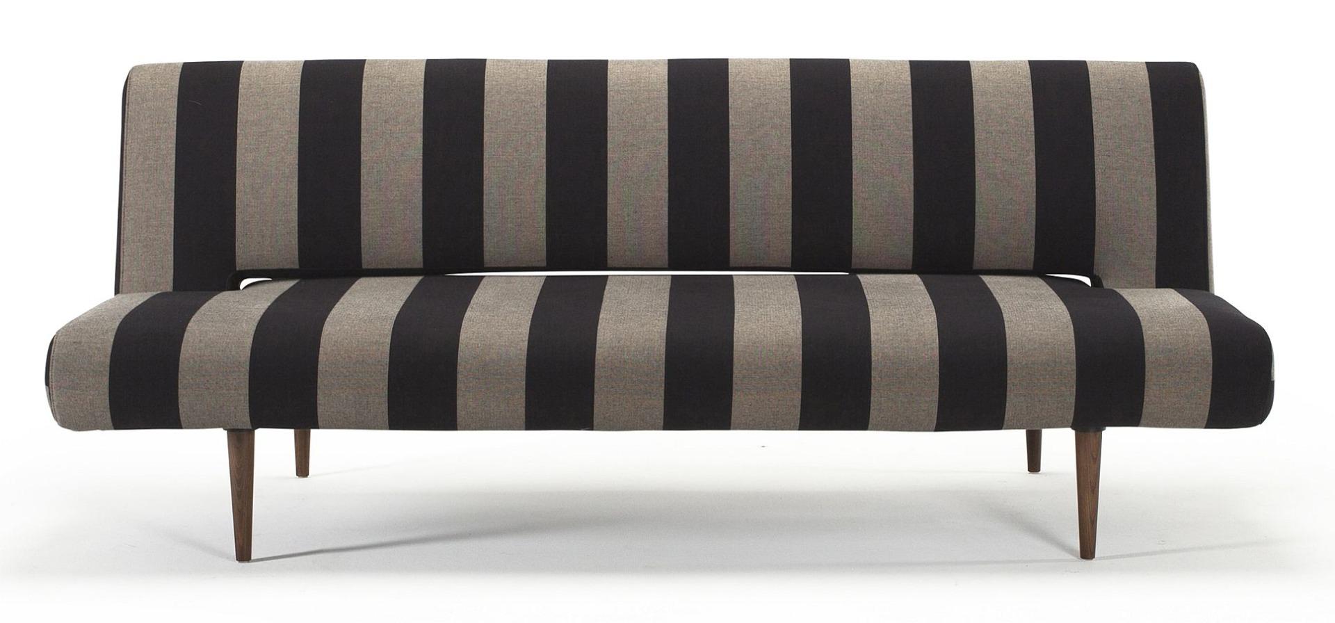 Innovation Slaapbank Unfurl - Limited Edition - Stripe Zwart/Zand