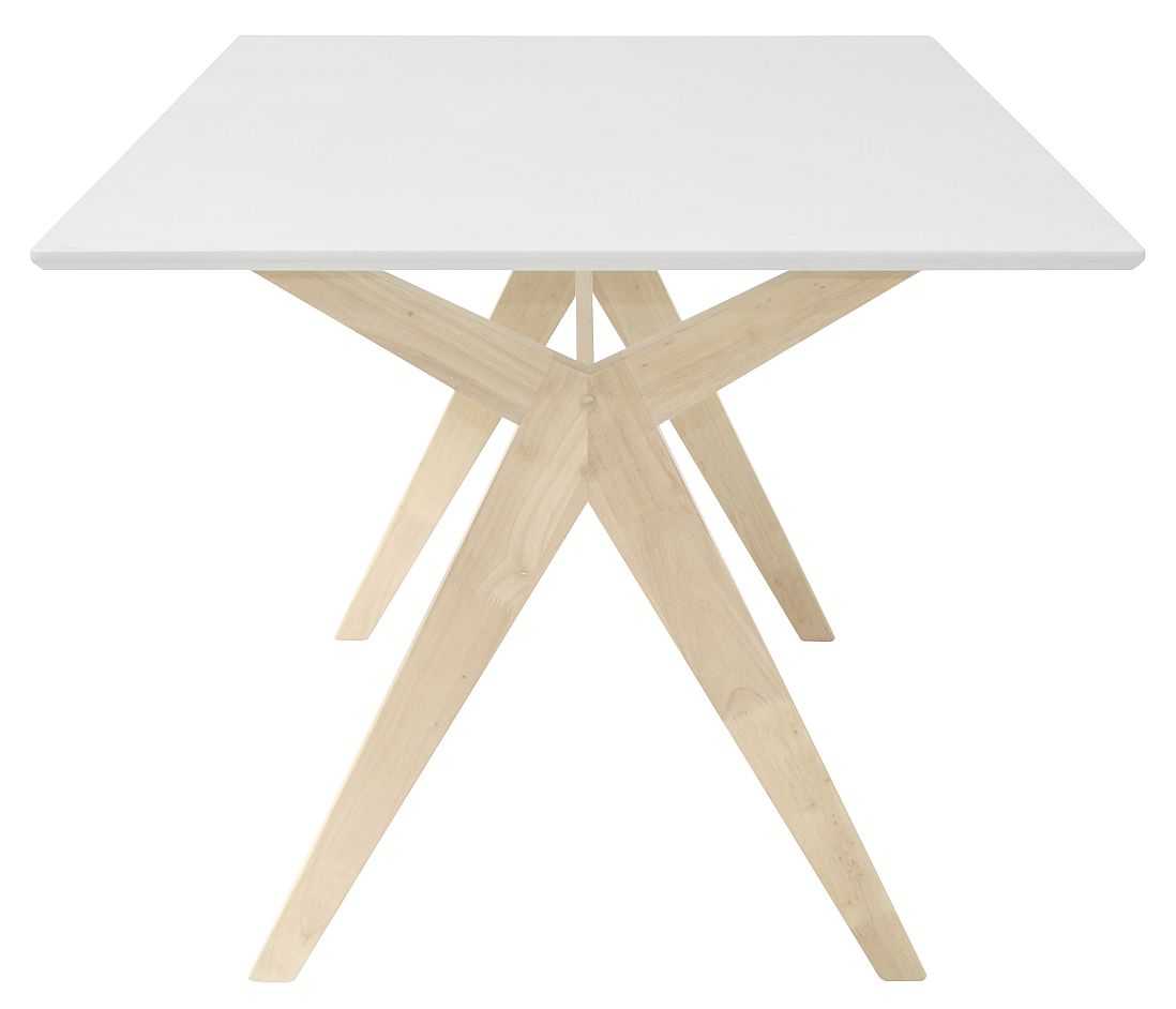 Interstil - Eettafel Scissor - 160x90x74 - Wit Tafelblad - White Wash Onderstel