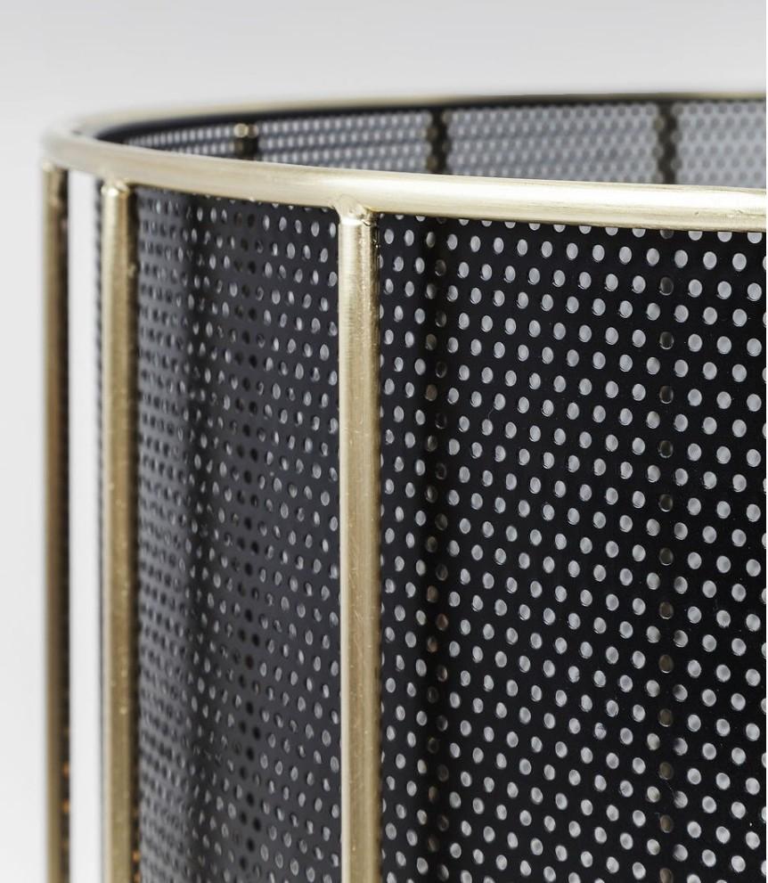 Kare Design Vloerlamp Wire Bowl 1-LichtsØ65 X H150 Cm - Zwart