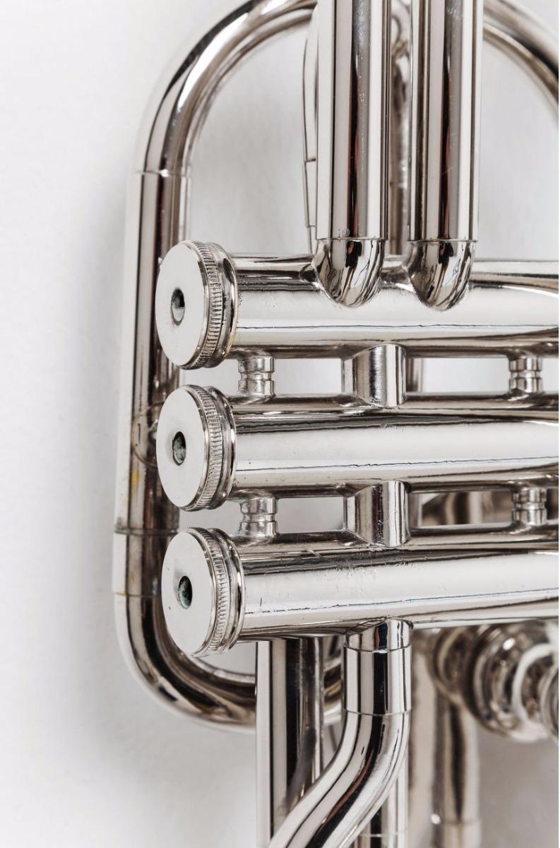 Kare Design Wandlamp Trumpet Jazz 1-Lichts B26 X H41 Cm - Zilver