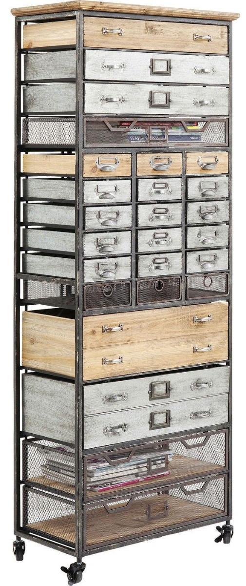 Kare Design - Opbergkast Hudson Bay - 63.5x32.5x167 - Hout&Metaal