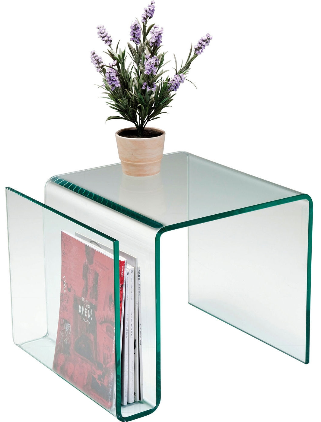 Kare Design Bijzettafel Newspaper Clear Club - L38 X B48 X H42 Cm - Glas