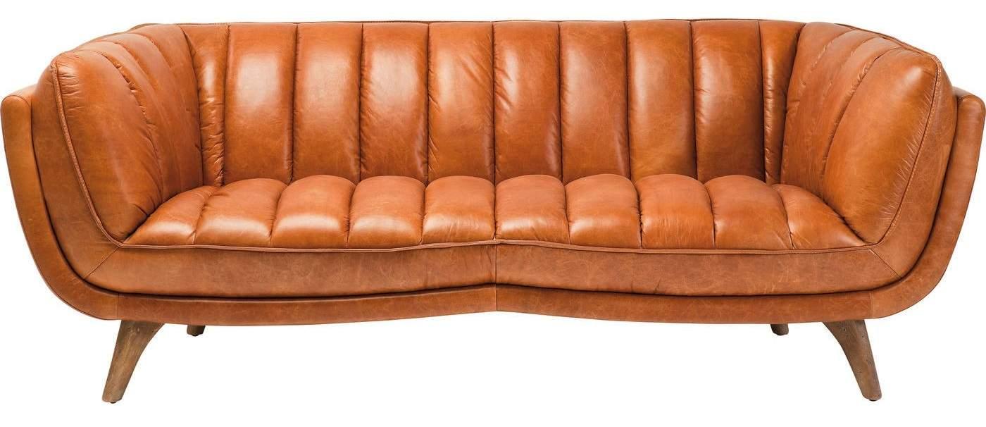 Kare Design Bruno Bank - Breedte 218 - Leer Cognac