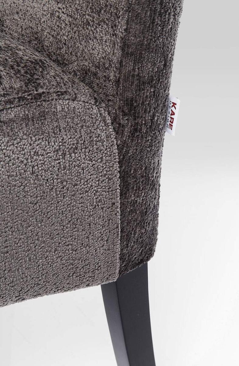 Kare Design - Motley Hugs Bankje - Stof Grijs - Houten Poten