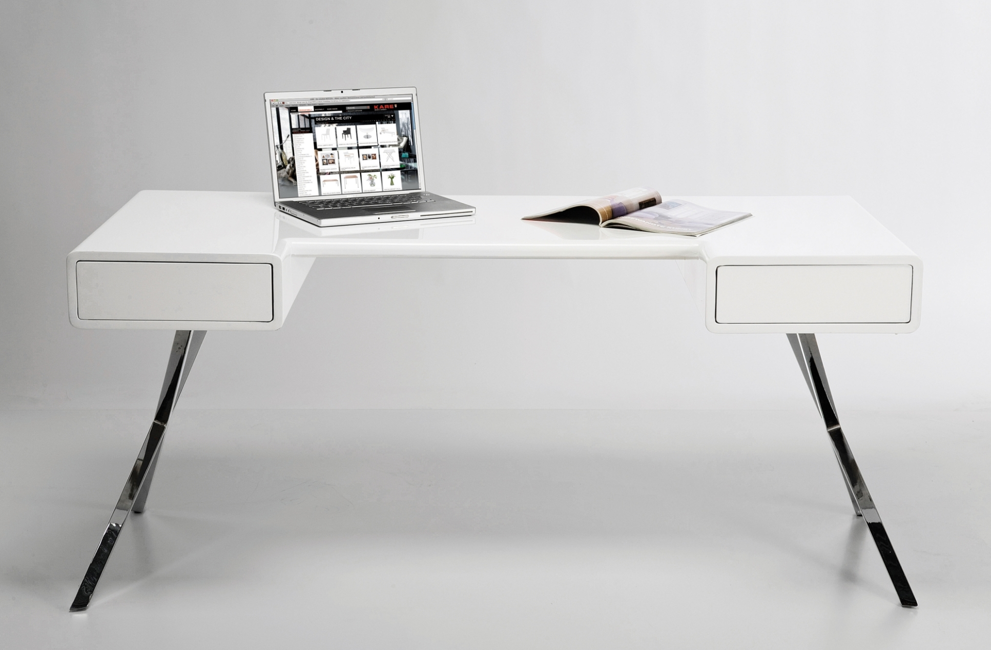 Bureau smart desk wit loftscape aanbieding kopen for Bureau kare design
