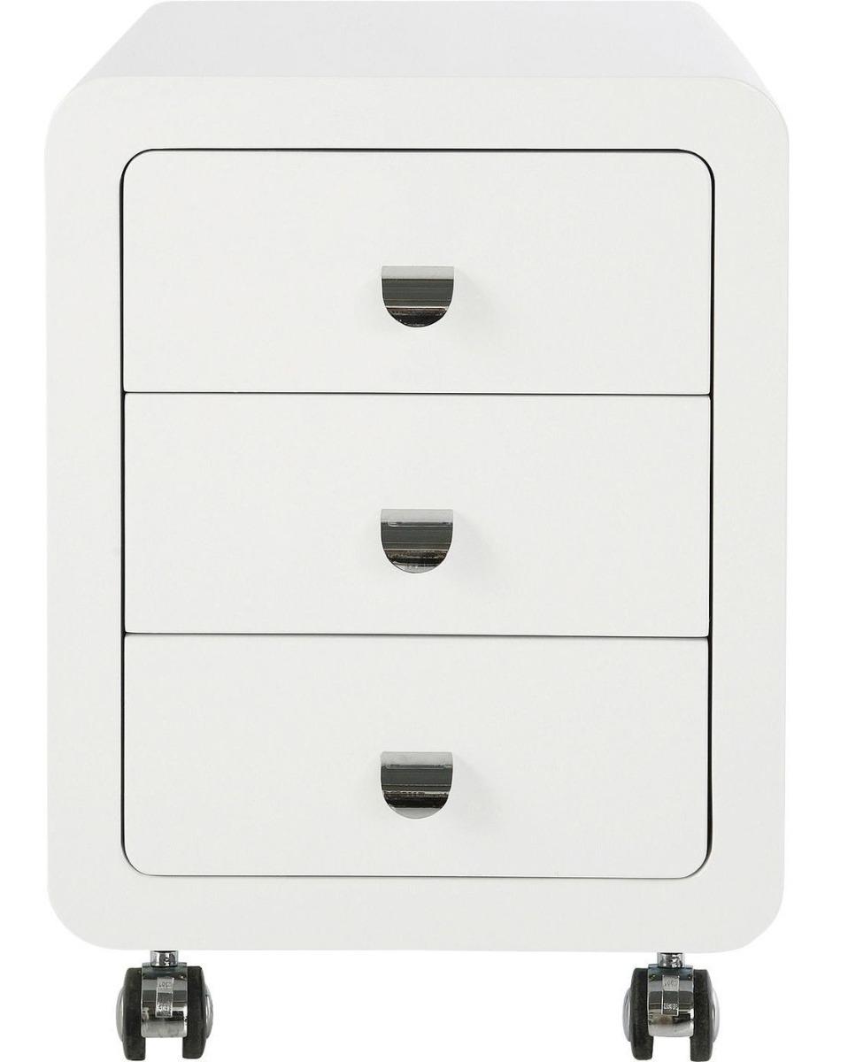 Kare Design Ladeblok White Club 3 Laden - 40x45x54 - Hoogglans Wit