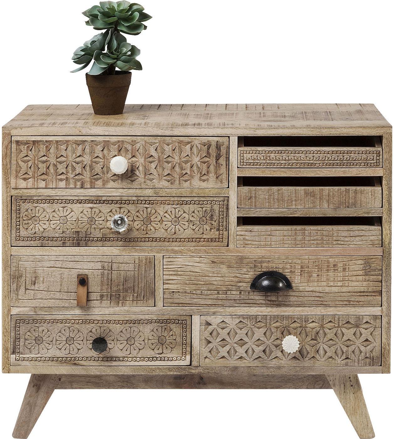 Kare Design Ladekast Puro 9 Laden - 80x35x65 - Mangohout