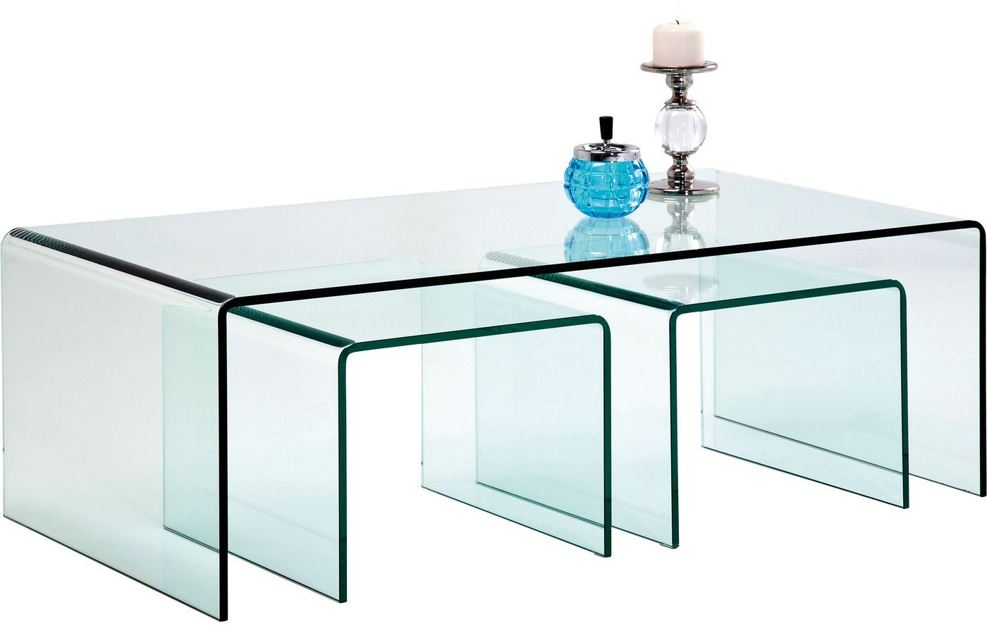 Kare Design Set 3 Salontafels Clear Club - Glas