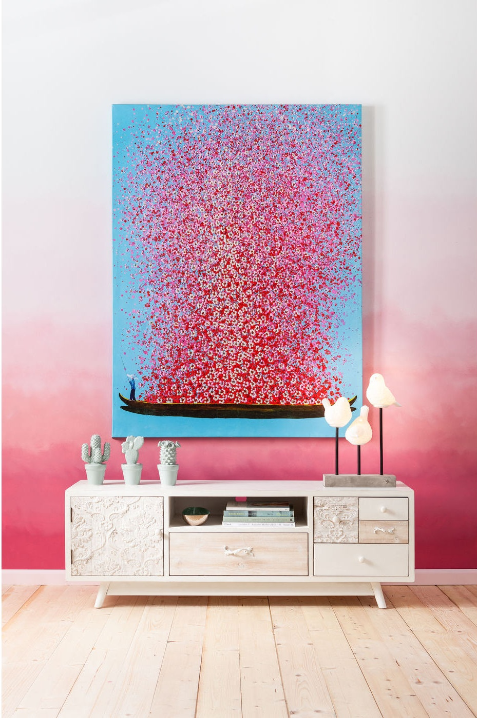 Kare Design TV Meubel Sweet Home - L150 X B40 X H51 Cm - Hout - Wit