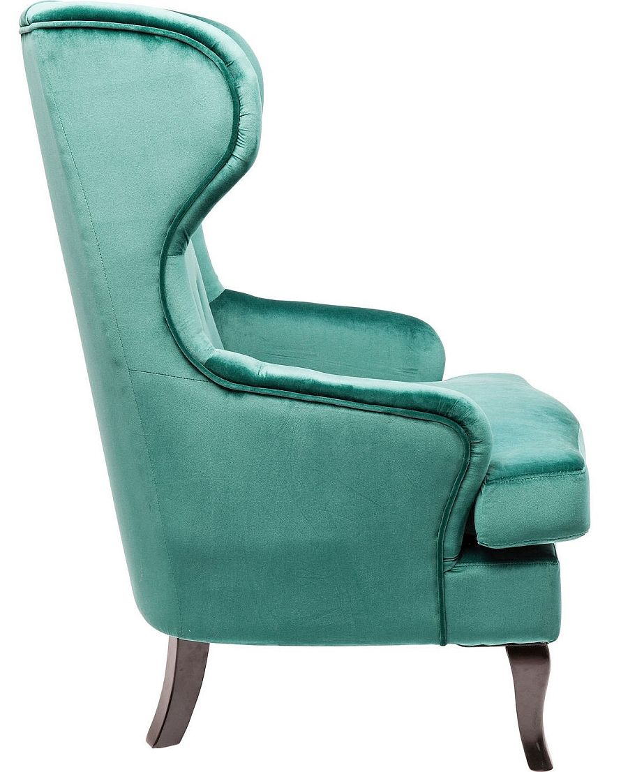 Kare Design - Wing Armchair Vintage Green Fluweel