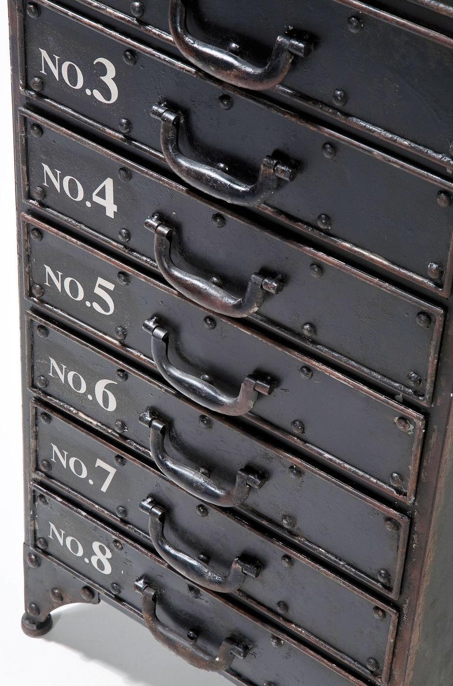 Kare Design Ladekast Kontor 8 Lades - Grijs