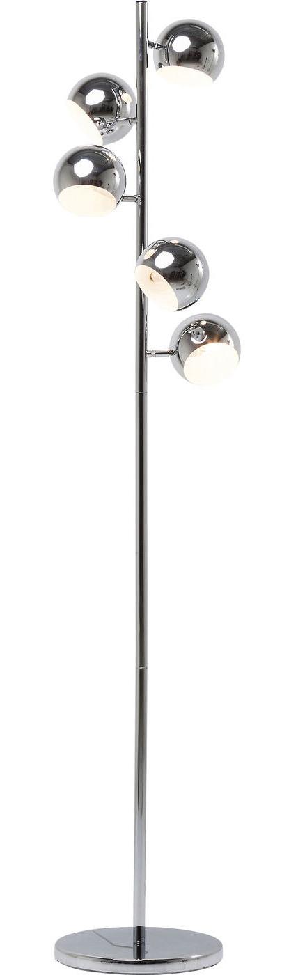 Kare Design Vloerlamp Calotta 5 Lichts - H200 Cm - Chroom
