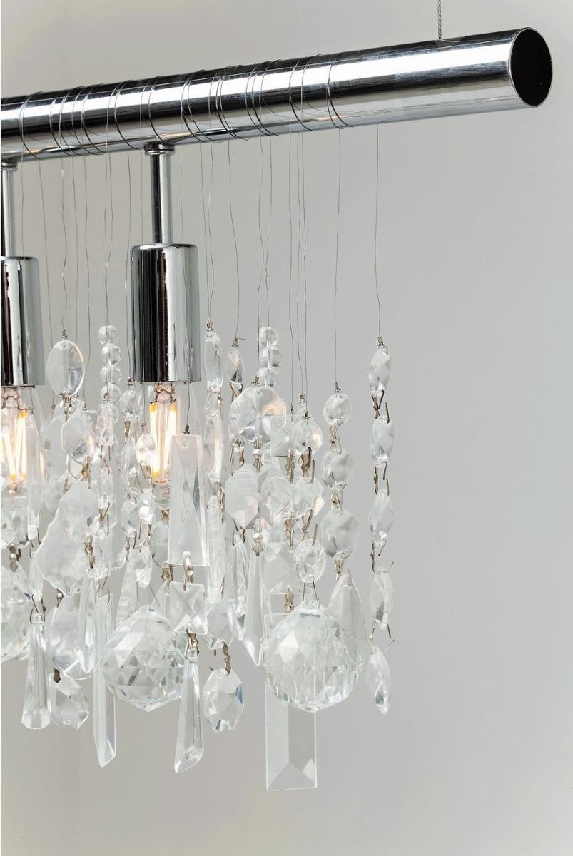 Kare Design Hanglamp Klunker - Breedte 120 Cm - Chroom