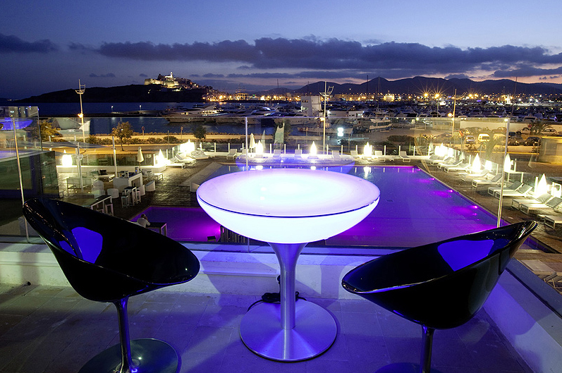 Moree - Ronde Salontafel Lounge - Hoogte 55 Cm Outdoor - Wit