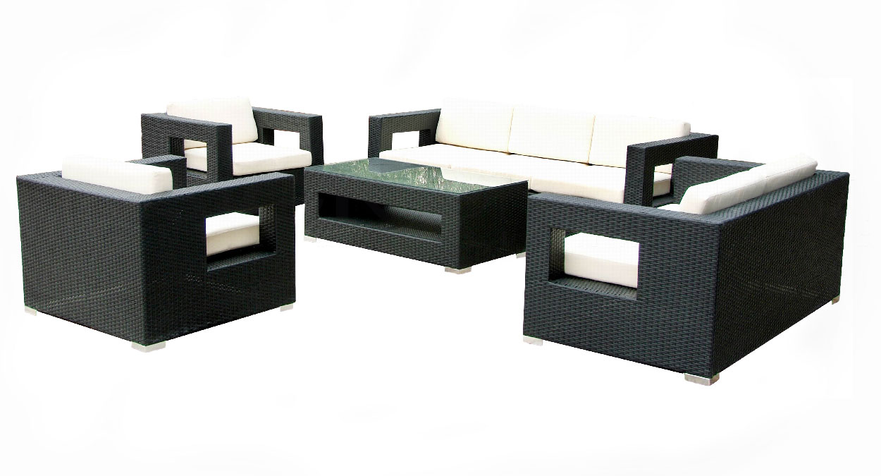 24designs loungeset long beach zwart in de aanbieding kopen - In december o grijze lounge ...