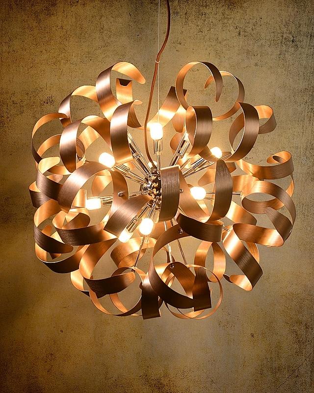 Lucide Hanglamp Atoma - LED -Ø60 Cm - Mat Koper Kleur