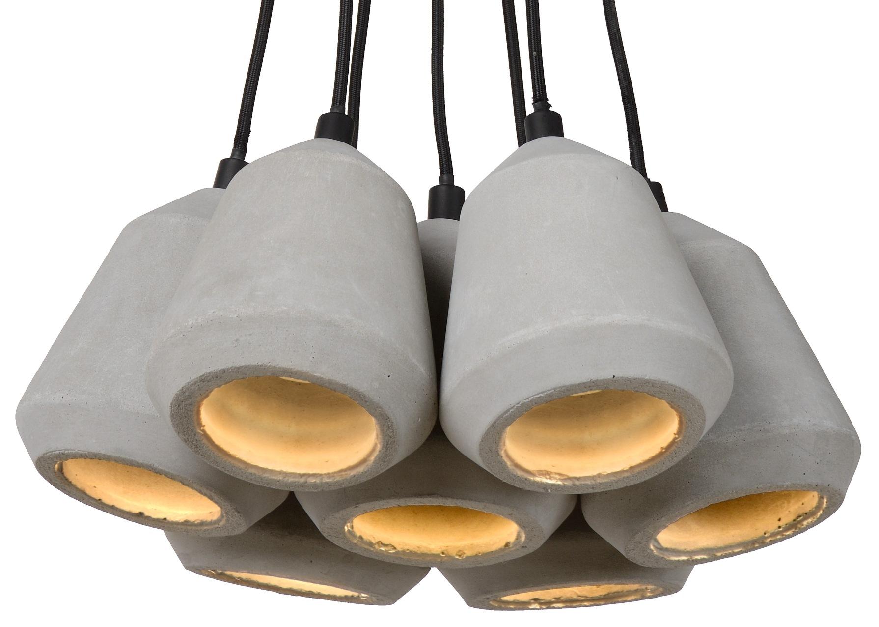 Lucide Hanglamp Settana 7 Lichts - Beton - Grijs