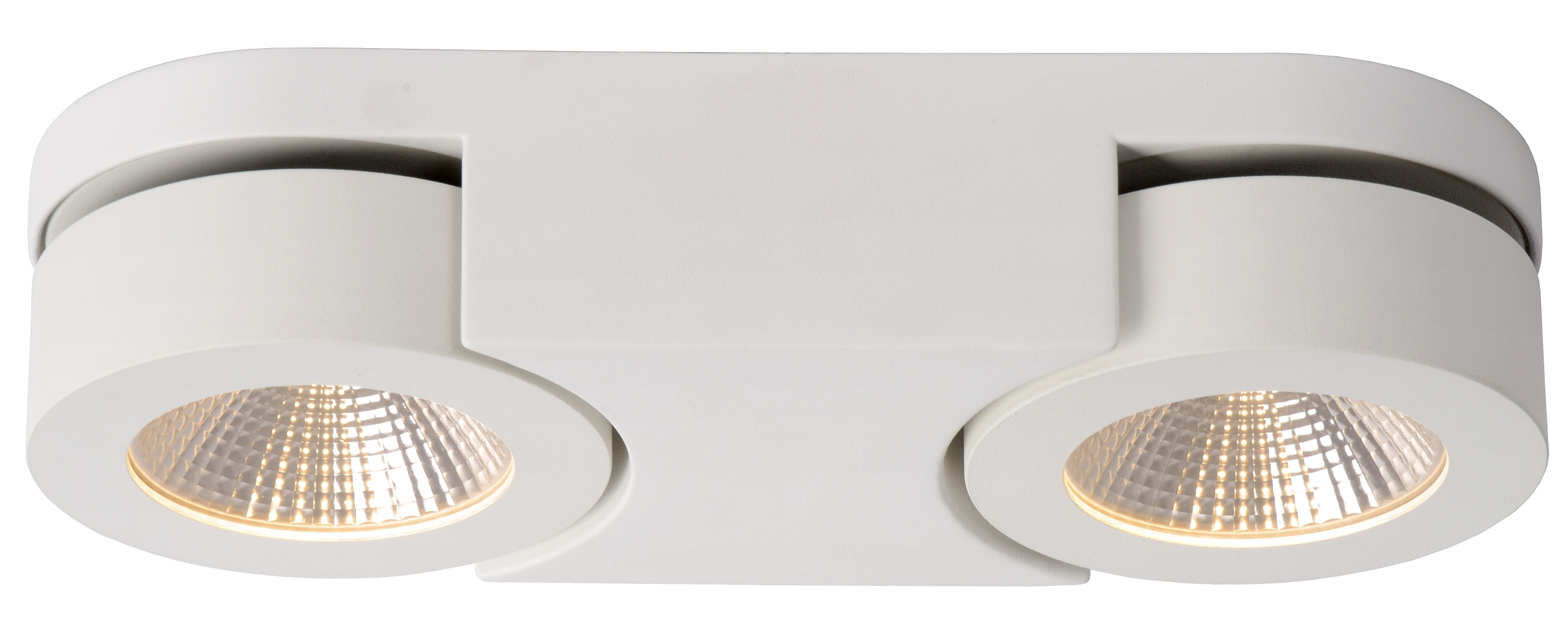 Lucide Plafondspot Mitrax 2 Lichts - Dimbare LED - Mat Wit