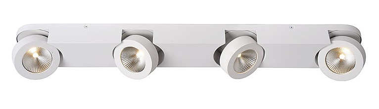 Lucide Plafondspot Mitrax 4 Lichts - Dimbare LED - Mat Wit
