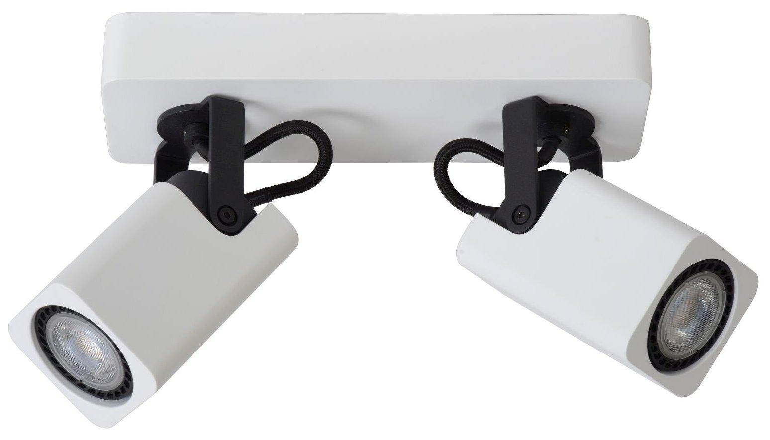 Lucide Plafondspot Roax - 2 Lichts - Dimbare LED - Mat Wit