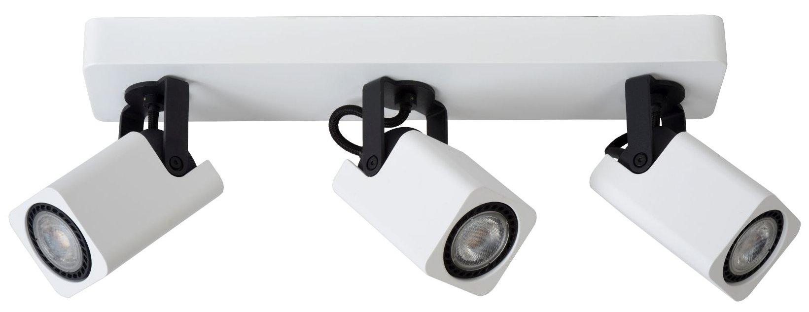 Lucide Plafondspot Roax - 3 Lichts - Dimbare LED GU10 - Mat Wit