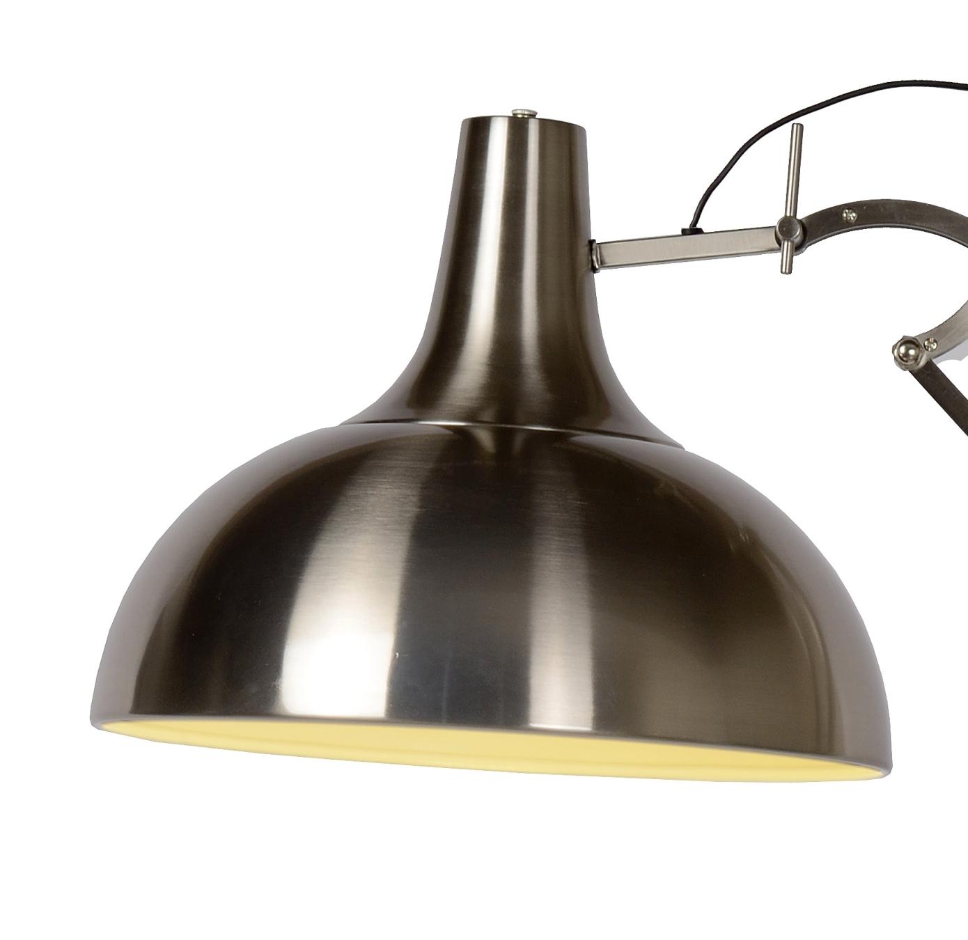 Lucide Verstelbare Vloerlamp Watsie - H168 Cm - Mat RVS Chroom