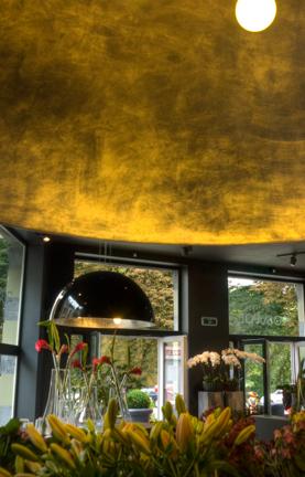 Linea Verdace Hanglamp Cupula Zwart - Goud -Ø120cm - H60cm