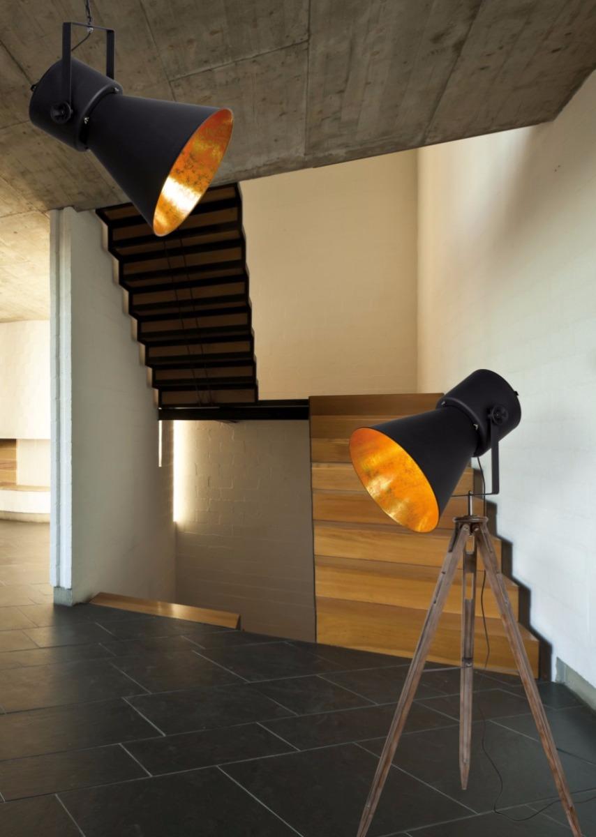 Lucide Verstelbare Hanglamp Marlowe 1-LichtsØ43 X H55 Cm - Metaal Zwart