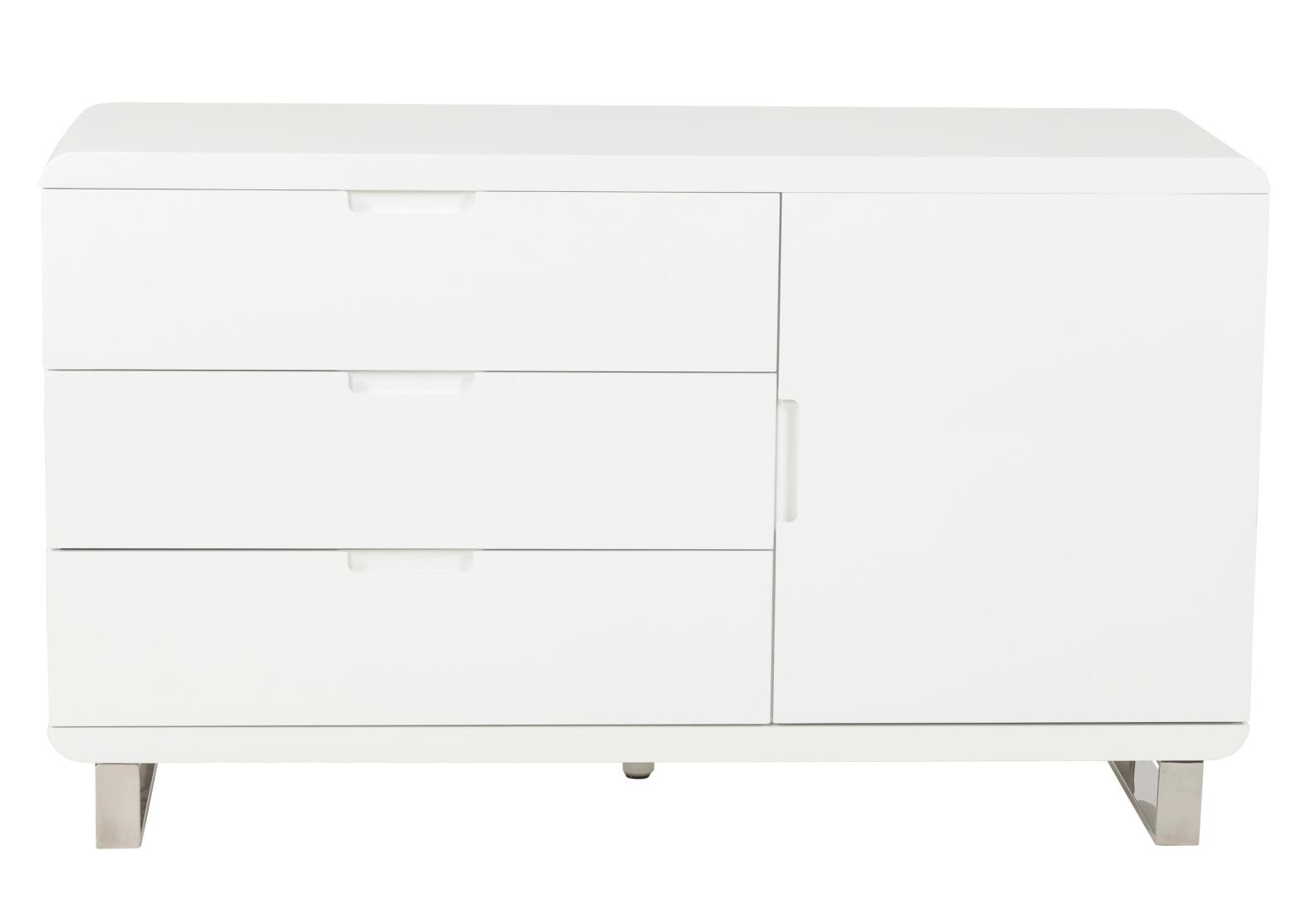 24Designs Dressoir Tindra - 135x45x80 - Wit Hoogglans