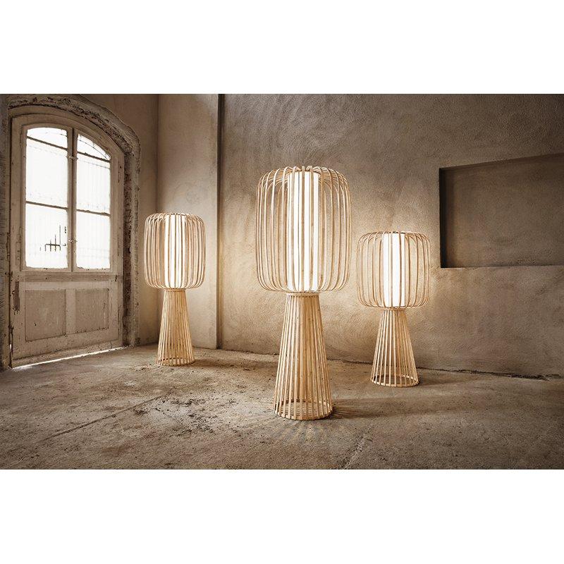 Lasfera Vloerlamp Moolin Tiny -Ø18 X H35 Cm - Bamboe