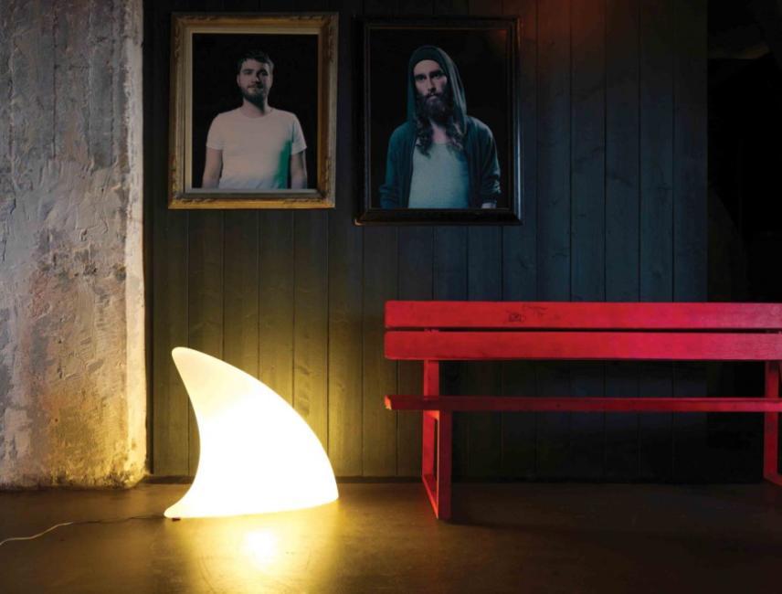 Moree Shark Indoor Tafel-Vloerlamp 70x19x65 Cm - Wit