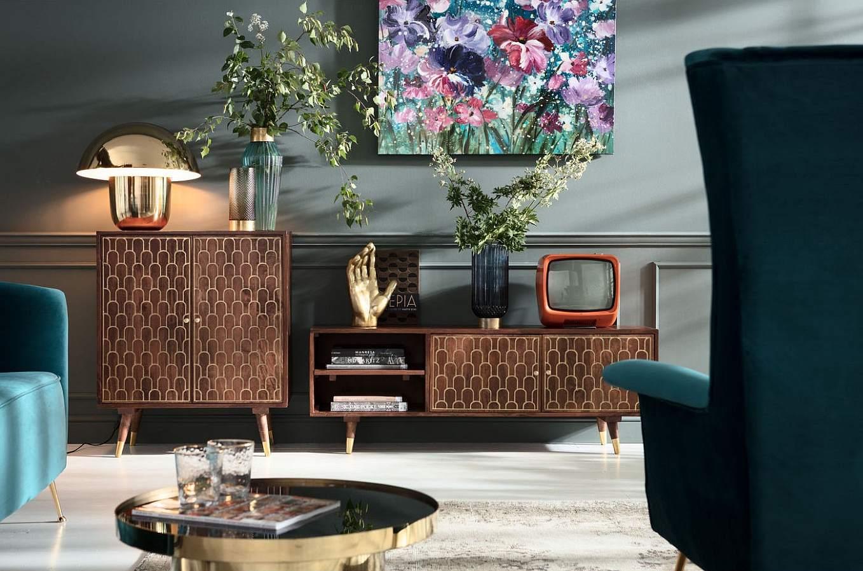Kare Design - TV-Meubel Muskat - 140x35x50 - Mangohout