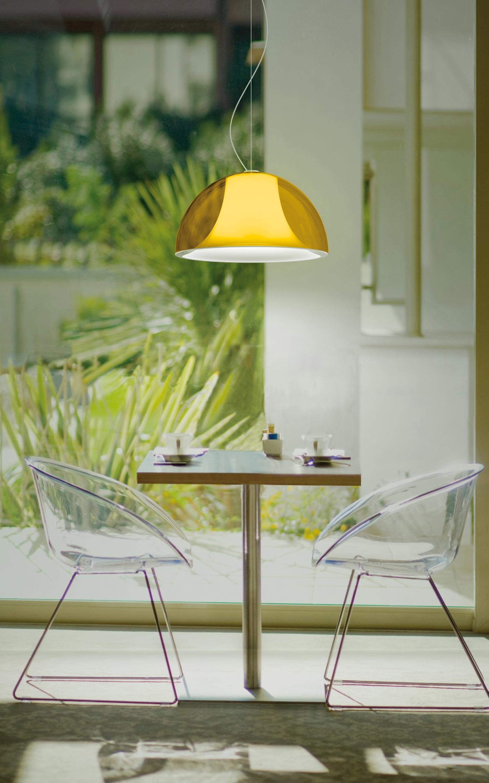 Pedrali Hanglamp L002S/BA -Ø52 Cm - Wit/Geel Transparant
