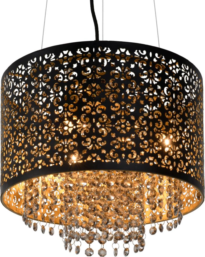 Lucide Verstelbare Hanglamp Raka 3-LichtsØ31 X H19 Cm - Metaal Zwart