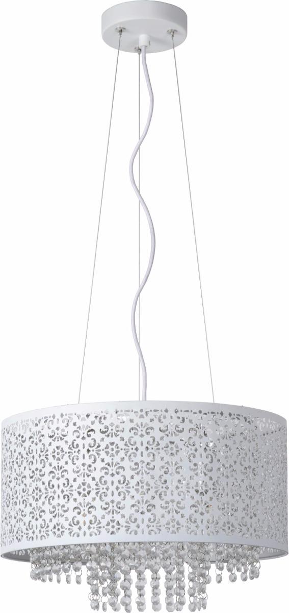 Lucide Verstelbare Hanglamp Raka 4-LichtsØ41 X H19 Cm - Metaal Wit