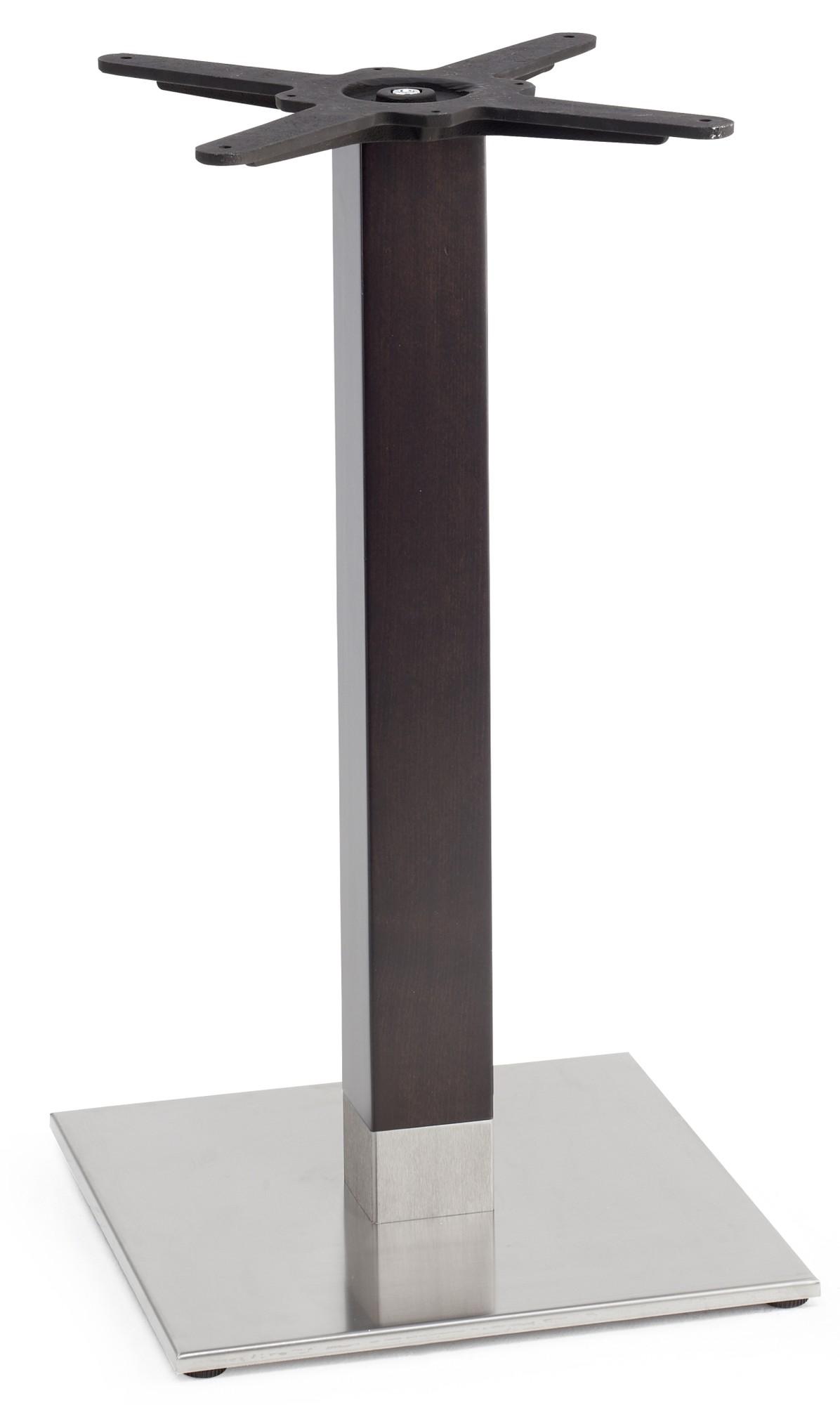 SCAB Design Tafelonderstel Tiffany Natural - Hoogte 73 Cm - Vierkante Voetplaat - Wengé- Gepolijst RVS