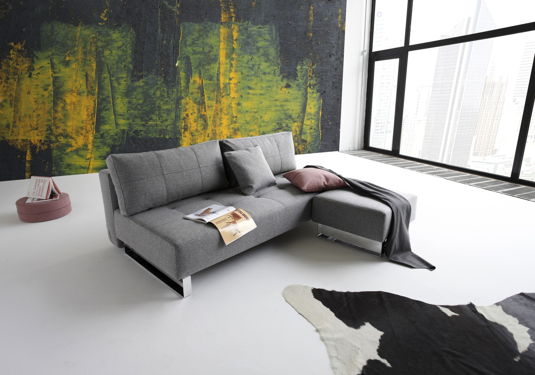 Innovation Slaapbank Supremax Deluxe Excess Lounger - Twist 563 - Charcoal