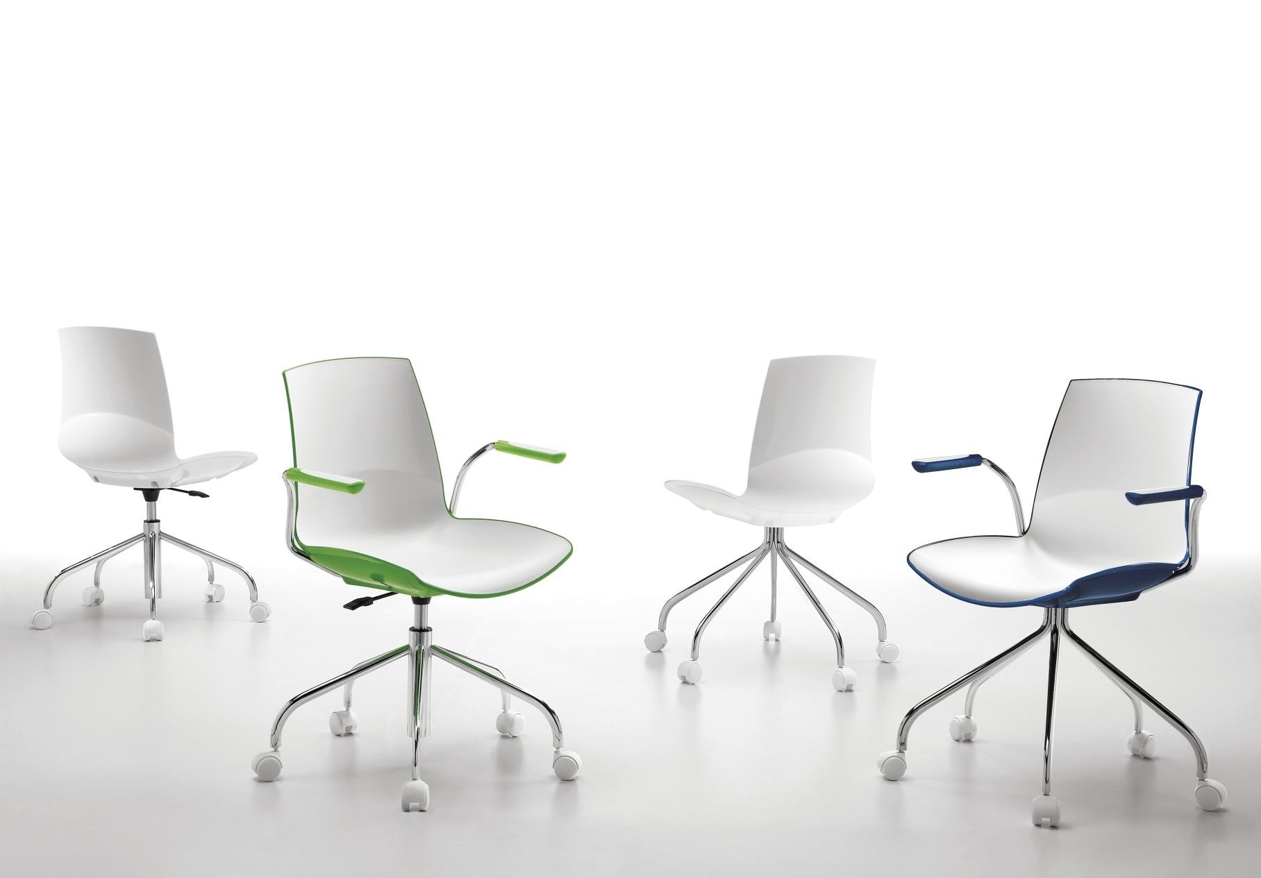 Infiniti Bureaustoel Now Swivel - Kruispoot - Wielen - Zwart