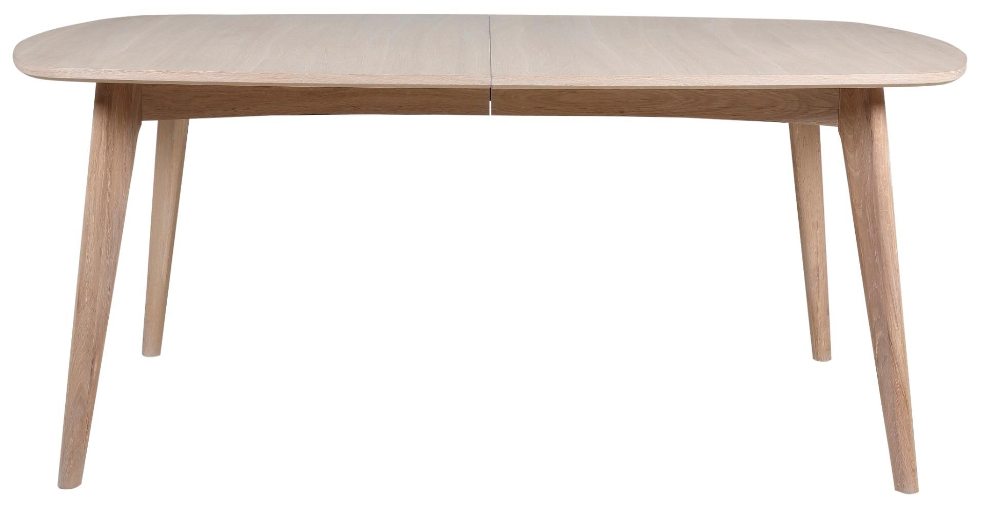 24Designs Uitschuifbare Tafel Nadine - 180/270x102x76 - Eiken White Wash - Incl. 2 Verlengstukken