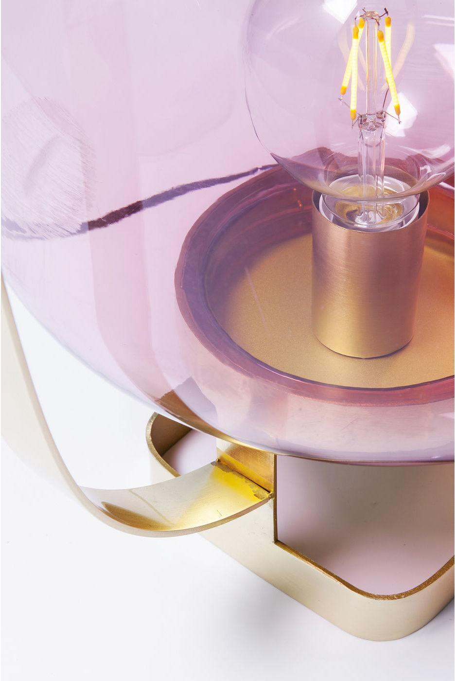 Kare Design - Tafellamp Jupiter - Roze - Messing Frame