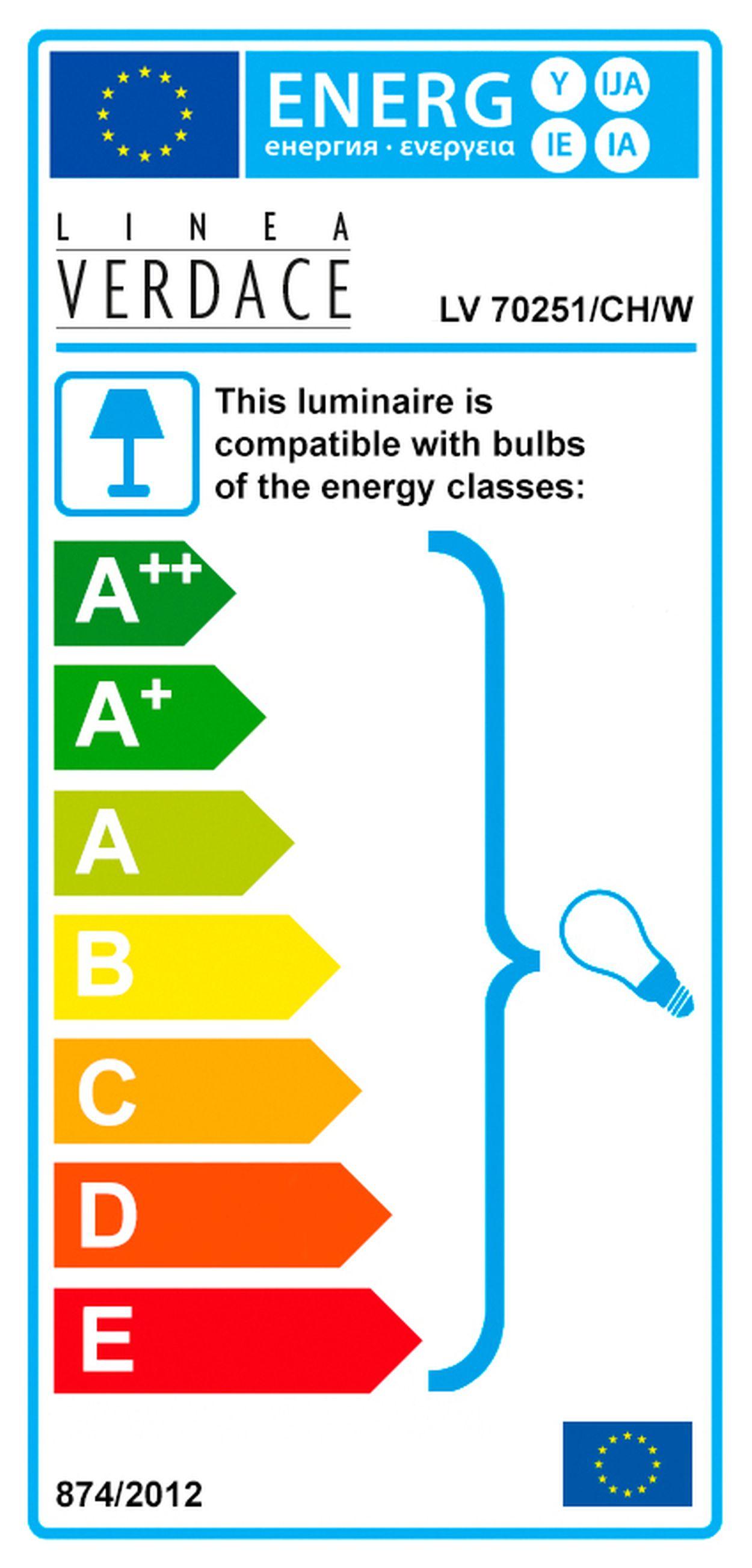 Linea Verdace Tafellamp Quadro - H36 Cm - Wit/Chroom