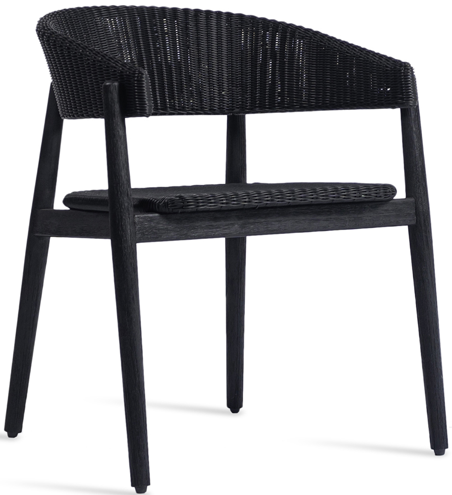 Vincent Sheppard Mona Dining Chair - Teak Tuinstoel - Zwart