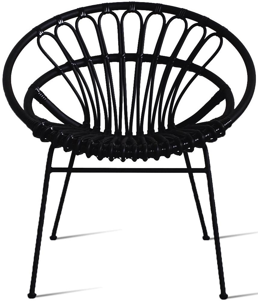 Vincent Sheppard Roxanne Lazy Chair - Zwart - Inclusief Cat.B Zitkussen