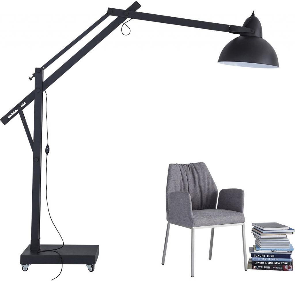 Kare Design - Vloerlamp Gigante Factory - H240 Cm - Zwart