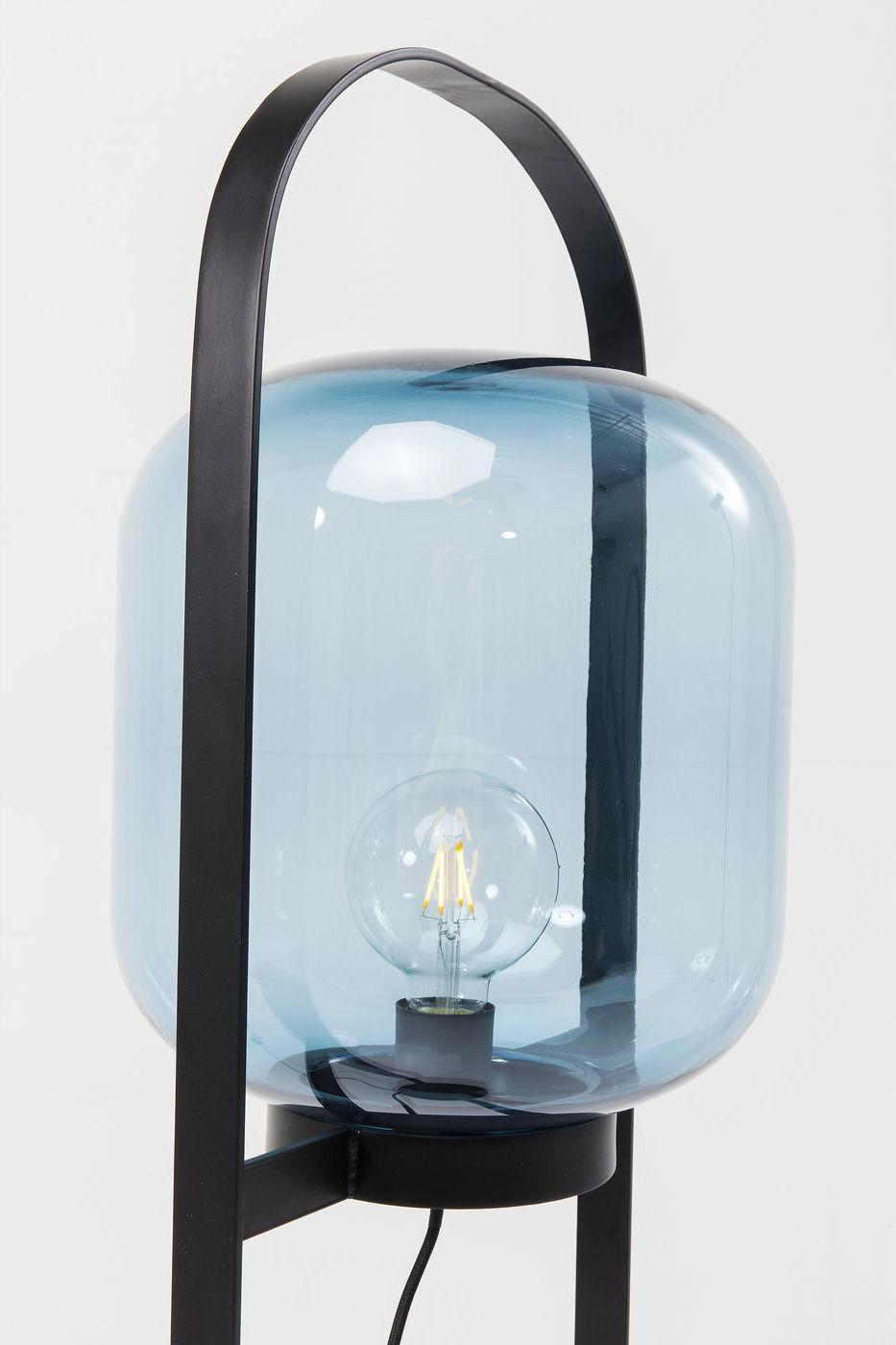 Kare Design - Vloerlamp Jupiter - H125 Cm - Blauw - Zwart Frame
