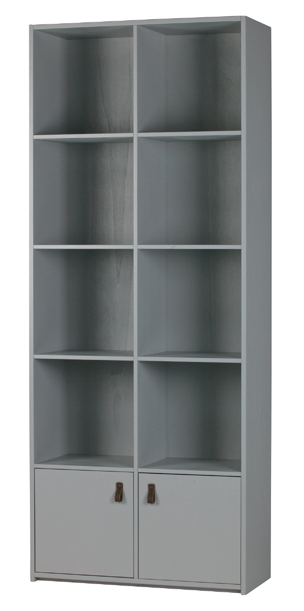 Vtwonen Bookcase Grenenhout Geschuurd - Betongrijs