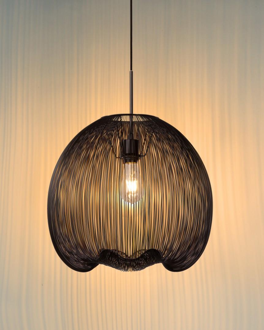 Lucide Verstelbare Hanglamp Wirio 1-LichtsØ46 Cm - Metaal Zwart