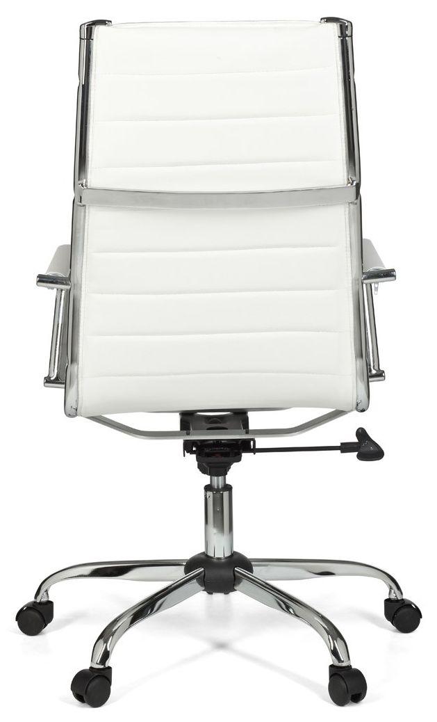 24Designs Modena Bureaustoel Hoge Rugleuning - Wit Kunstleer