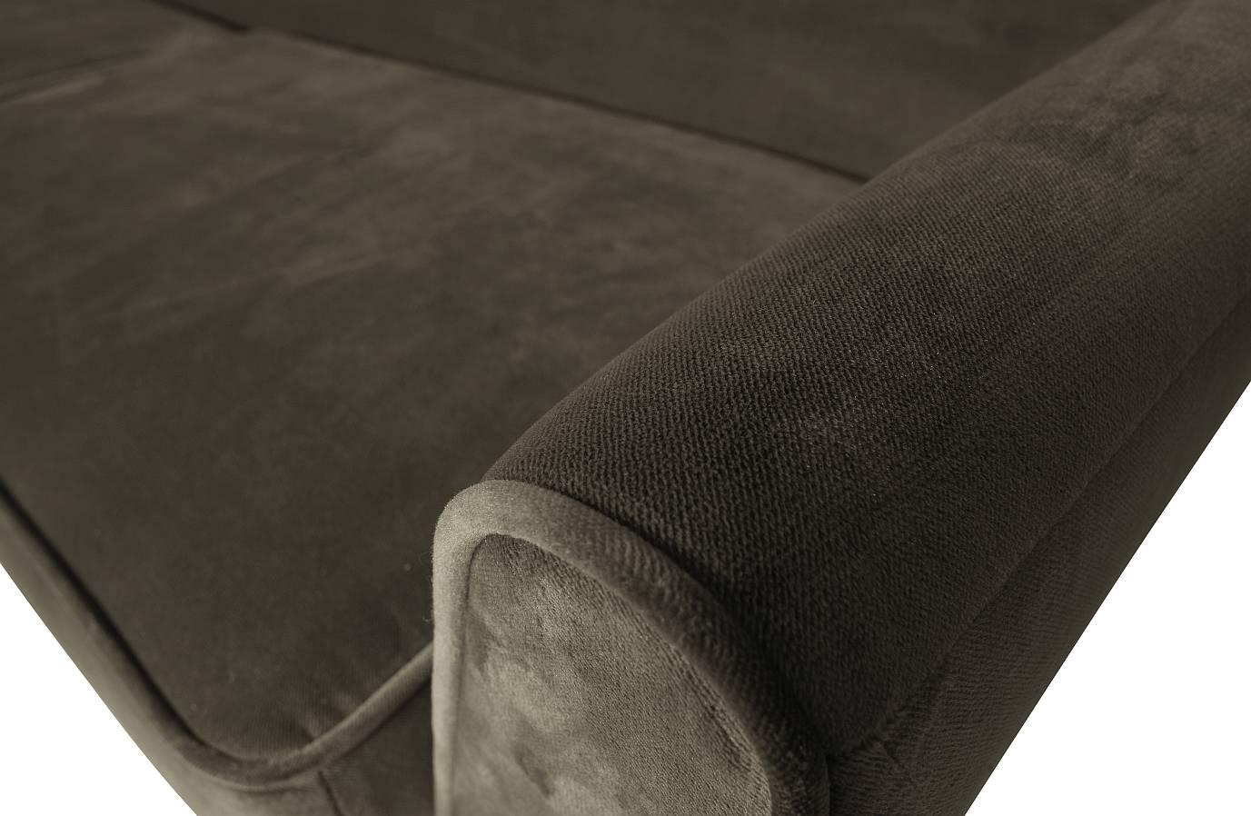 Woood Rocco Bank XL 4-zits - Breedte 230 Cm - Fluweel Warm Groen
