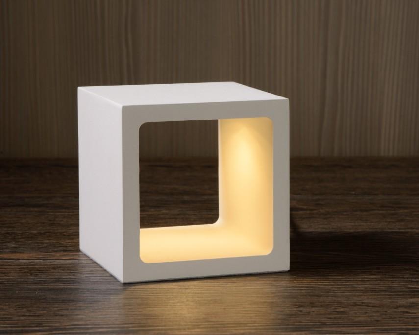 Lucide Tafellamp Xio 1-Lichts B10 X H10 Cm - Metaal Wit
